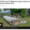'실종된 말레이시아 여객기' 추정 잔해, 500일만에 인도양서 발견