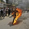 티베트 청년, 독립 외치며 분신