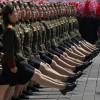 김일성 100회 생일, 행진하는 북한 여군