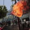 성조기 태우는 필리핀 시위대