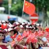 반환 15주년, 펄럭이는 홍콩 깃발