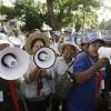 캄보디아, 반체제 언론인 석방 시위