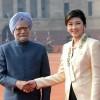 악수하는 태국-인도 총리