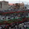 리비아 광장 수놓은 초대형 국기