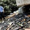 폐기처분되는 中 불법 무기들
