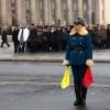 <김정일 사망> 분향소 교통정리하는 北 여성 경찰