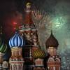 붉은광장 수놓은 새해 축하 불꽃