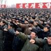 '충성맹세' 대회 구호 외치는 北 주민