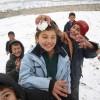 '첫눈'에 신난 아프가니스탄 동심