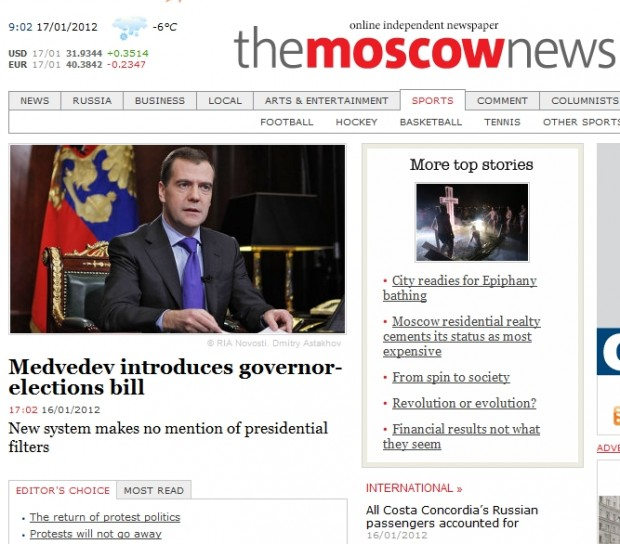 Medvedev introduces governor-elections bill