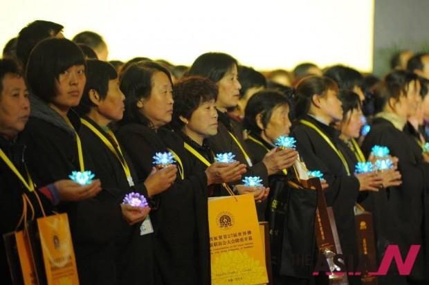세계불교총회에 참석한 신도들