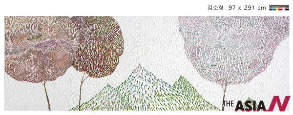 , 97×291cm 캔버스에 혼합기법, 2015