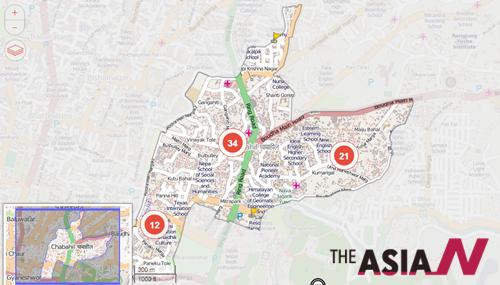 KLL은 피해상황을 OpenStreetMap을 통해 알리고 있다.
