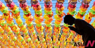 불기 2559년 부처님오신날을 하루 앞둔 24일 오전 경기 화성 용주사에서 한 불자가 간절함이 묻은 기도를 하고 있다. 2015.05.24