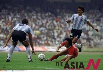 1986멕시코월드컵 최종예선에서 일본을 제압하고 본선에 오른 한국은 6월 2일 디에고 마라도나가 출전한 아르헨티나와 A조 1차전을 치렀다.<사진=