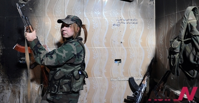 SYRIA-DAMASCUS-FEMALE SNIPERS