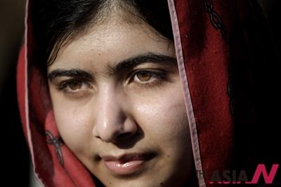 파키스탄 출신 노벨평화상 수상자인 인권운동가 말랄라 유사프자이