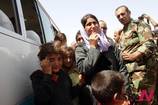 지난 4월 8일, IS로부터 풀려난 야디지족 가족