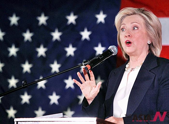 민주당 유력 대선후보 힐러리 클린턴 전 국무장관