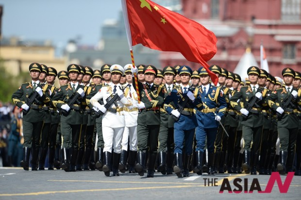 (FOCUS)RUSSIA-MOSCOW-VICTORY DAY PARADE-CHINA-PLA-HONOR GUARD