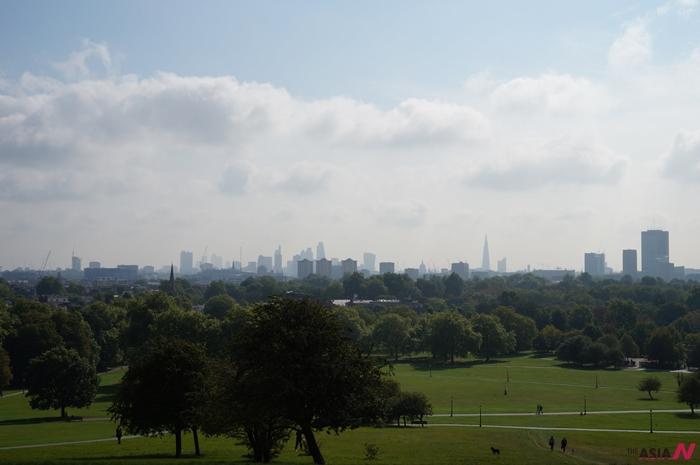 프림로즈힐에서 내려다보이는 런던전경