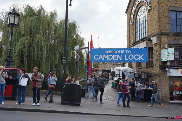 캠든마켓의 대표 간판 '캠든 락(Camden Lock)'