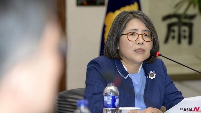 김영란 전 대법관의 모습