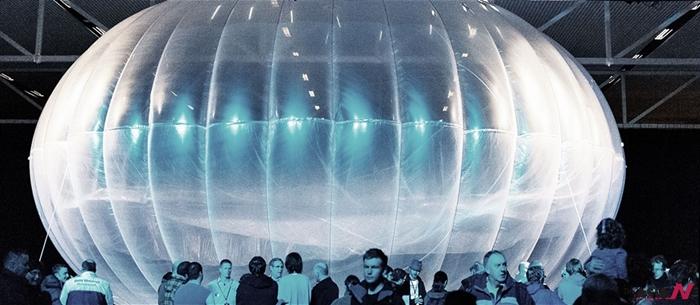 지난 2013년 6월 선보인 구글의 초대형 와이파이 헬륨 풍선