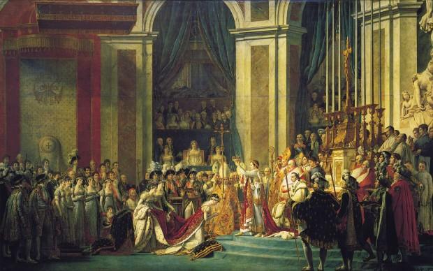고전주의 회화 '나폴레옹 대관식'(Coronation of Napoleon and Josephine, Jacques-Louis David, 1805-1807). 자크 루이 다비드 作