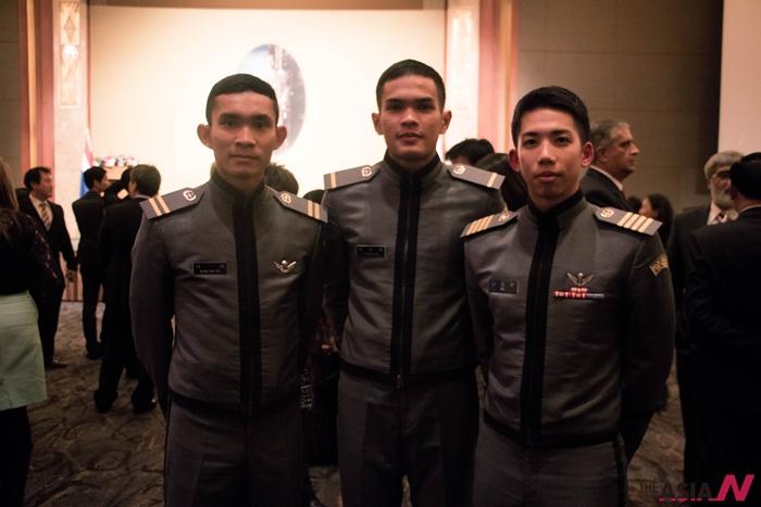 육군사관학교에서 유학중인 태국 출신 학생들. 인터뷰에 응한 나타왓(4학년)씨는 맨 왼쪽.