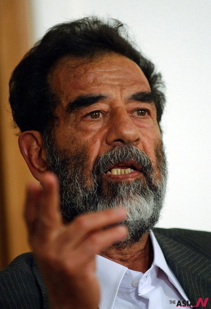 사담 후세인 전 이라크 대통령의 모습