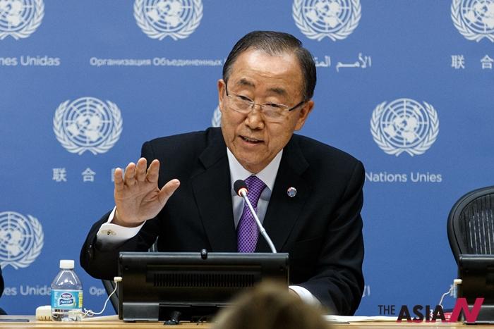 반기문 유엔사무총장 모습