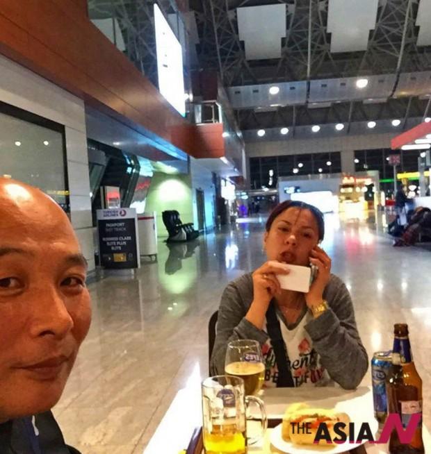 우크라이나 여인 스벹라나와 공항에서