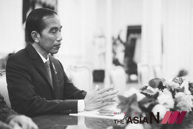 3일 인도네시아 자카르타 대통령궁에서 만난 조코 위도도 대통령. 이날 조코 위도도 대통령은 아자어워드를 한국에서 수상하겠다고 밝혔다.