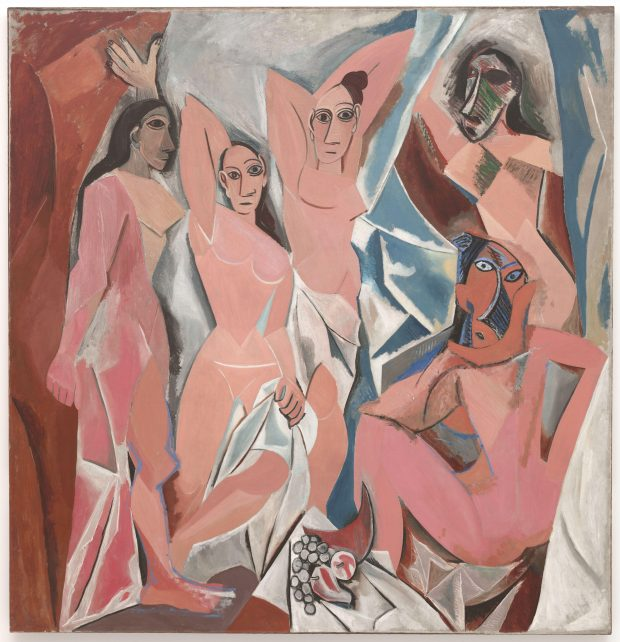 Picasso(피카소), Les Demoiselles d'Avignon (The Young Ladies of Avignon), 1907