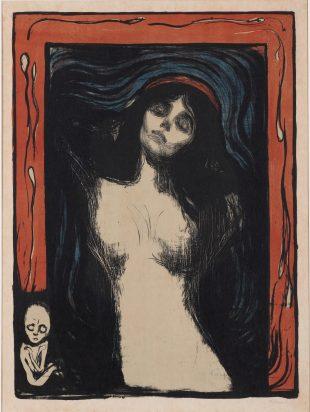 E. Munch(뭉크), Madonna, 1895~1902