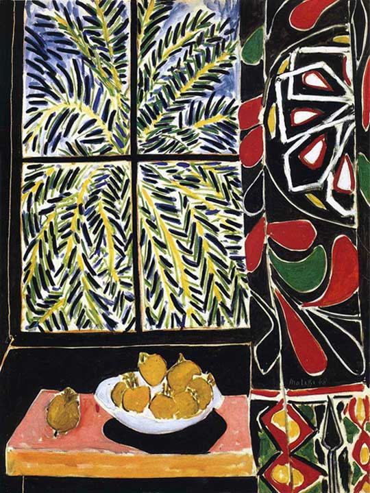 Matisse(마티스), Interior with Egyptian curtain, 1948