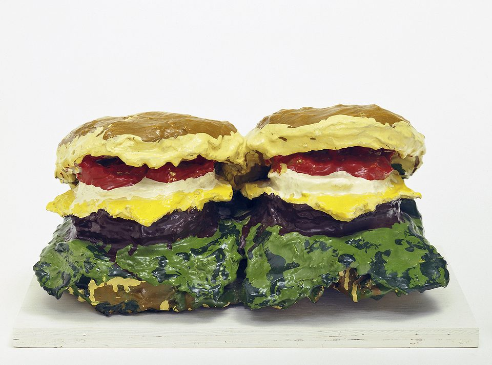 claes-oldenburg-two-cheeseburgers-with-everything-dual-hamburgers-1962