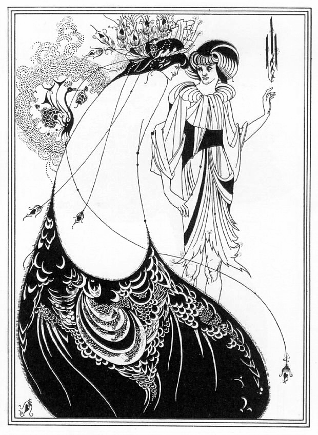 Aubrey Beardsley, The Peacock Skirt, 1893
