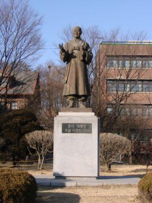 배재학당 안에 있는 이승만 대통령 동상