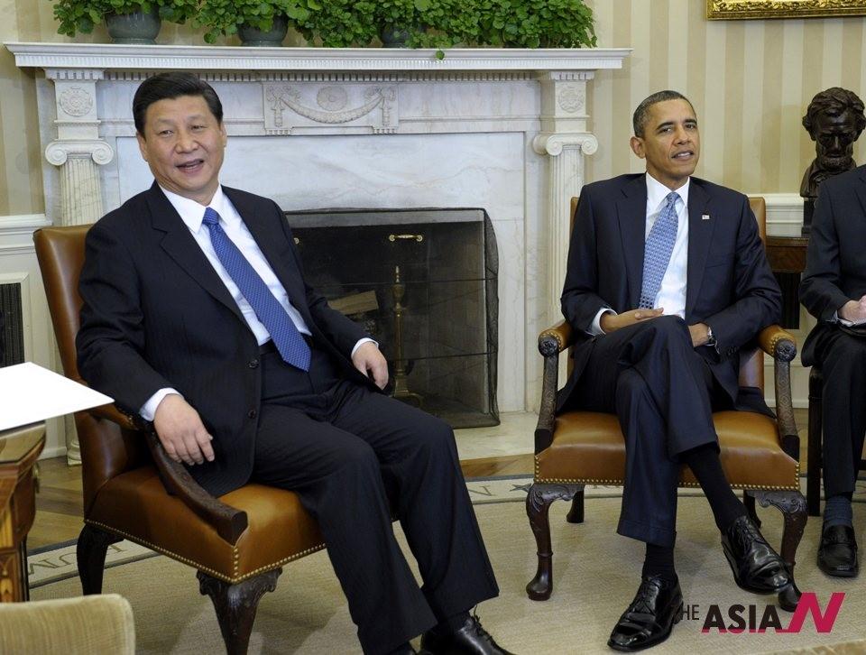 오바마·시진핑 첫 정상회담, 북핵 논의