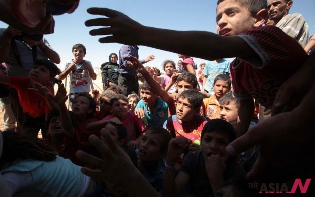 시리아 난민촌 어린이들2